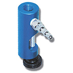 Clamp, Gauge Pole, Anodized Aluminum, Rear Mount 1/4in NPT Threaded, 3/4in Diameter Poles