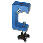 Clamp, Gauge Pole, Anodized Aluminum, Rear Mount 1/4 in. NPT Threaded, 1in to 2-1/2 in Diameter Poles