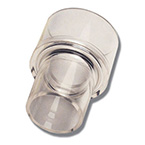 Reducing Adapter, Reusable, 30 mm OD x 22 mm OD, Polycarbonate