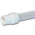 Ventilator Tubing, Adult, Cuffed, Reusable, 22 mm ID, Transparent, Nonconductive, 6 in