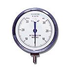 Vacuum Pressure Gauge, 30 cm H2O, 1 cm Dial Markings, Reusable, 1/8-in Tubing Connection