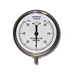Vacuum Pressure Gauge, 60 cm H2O, 2 cm Dial Markings, Reusable, 1/8-in Tubing Connection