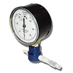 Cuff Pressure Monitor, Reusable, 1/4-in NPT Gauge Connection, Anodized Aluminum, Nylon