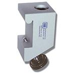 Rail Mount Bracket, Compact, Offset Knob, Rail Mounting of Flex Arms, Anodized Aluminum, Reusable