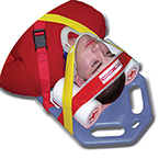 Head Immobilizer, Multi-Grip, Adult, Head and Chin Straps, Closed-Cell Foam