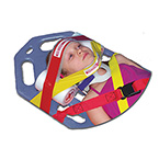 Head Immobilizer, Multi-Grip, Child, Head and Chin Straps, Closed-Cell Foam