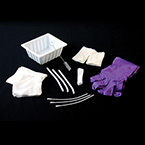 Tracheostomy Care Tray, 2 Gloves, CSR Wrap, 3 Basins, 6-in Trach Brush, Drape, 4 Gauze Sponge