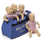 CPR Manikin, Baby Anne, Mulitpack, Soft Pack, w/24 Airways, 40 Foreign Body Practice Objects
