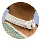 Tracheostomy Collar, Bariatic, Adult, 2-Piece, 2-in Wide