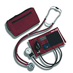 Blood Pressure Unit Kit, Stethoscope, MatchMates, Sprague Rappaport Stethoscope, Burgundy, Adult