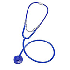 Stethoscope, MABIS, Dispos-A-Scope, Single Patient, Plastic Binaural, Blue