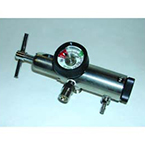Regulator, Oxygen, Click Style, High Flow, CGA-870, 2 DISS 50 PSI Outlets, Small Cylinder