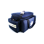 Trauma Bag, Large, Navy, Padded, Interior Movable Dividers, Net Side, Hard Bottom, 11 x 12 x 16-in