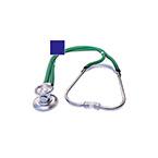 Stethoscope, Sprague Rappaport, 3 Bells, Adjustable Binaural, Eartip Kit, 2 Diaphragms, 22 in, Blue