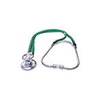 Stethoscope, Sprague Rappaport, 3 Bells, Adjustable Binaural, Eartip Kit, 2 Diaphragms, 22 in, Green