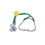 Stethoscope, Sprague Rappaport, 3 Bells, Adjustable Binaural, Eartip Kit, 2 Diaphragms, 22 in, Yellow