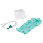 Suction Catheter Kit, Open, Cup, Gloves, 12 Fr