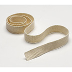 Twill Tape, Unbleached, 100 Percent Polyester, Beige, 1/2-in x 72-yds