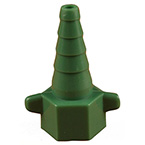 Oxygen Connector, One Piece, Christmas Tree, Plastic, Green