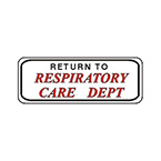 Label, Printed, Return to Respiratory Care Dept, Large, Roll, 2.5 x 15/16-in