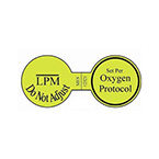 Label, Printed, Oxygen LPM, Permanent, Roll, 1.5 x 3.25-in