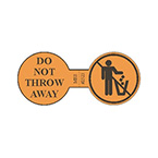 Label, Printed, Do Not Throw Away, Roll, 1.5 x 3.25-in