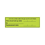 Label, Printed, Vent Circuit Quality Control, Roll, 1.5 x 5-in