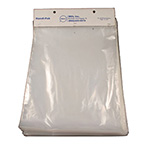 Plastic Bag, Handi-Pak, Cardboard Header, Heat Sealable, Polyethylene, 2 mil, 9 x 17-in