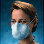 Particulate Respirator, N95, Healthcare, Surgical Mask, Foam Nose Cushion, Elastic Straps, Large