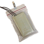 Telemetry Pouch, Clip-Tote, Clip-On, Water Resistant, Zip Lock, 5 x 8-inch