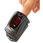 Pulse Oximeter, Onyx II 9560, Digital Fingertip, LED Display, Bluetooth, Memory, 2 AAA batteries