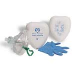 Pocket Ventilator, Rescue Breather, Head-Strap, O2 Inlet, 1-Way Valve w/ Filter, Nitrile Gloves, Hard Case