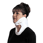 Collar, Cervical, 1-Piece, Trachea Opening, Mandible Support, Velcro Fasteners, Pediatric, Aqua