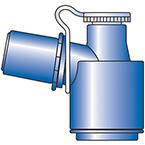 Portex® Peep-Keep™ Swivel Adapter for Bronchoscope