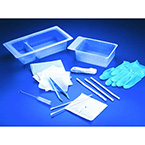 Tracheostomy Care Tray, Full, 2-Compartment, Sterile