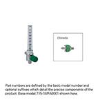 Oxygen Flowmeter, 0-70 LPM, Ohmeda Connector, 40 LPM Restrictor