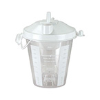 Suction Canister, 2000 cc, Lid, Disposable