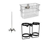 Stand, Pole, w/Cylinder Holder, Accessory Basket, Equipment, Blender