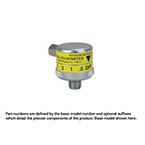 Air Flowmeter, Dial, 0-15LPM, DISS Female Hex Nut, Power Take Off