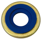 Yoke Seal, Washer, Brass Outer Ring, Neoprene, Pack of 25