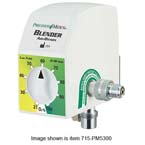 Oxygen/Air Blender, Low Flow, Delivers FiO2 Mixtures from 3 Outlets, Auxilary Port on Right