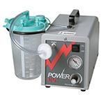 Suction Unit, Power Vac Aspirator, Portable, Hospital Grade Cord, 2000 cc Canister