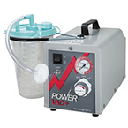 Suction Unit, Power Vac Plus Aspirator, Intermittent/Continuous, Hospital Grade Cord, 200 cc Canister