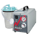 Suction Unit, Powervac Plus, Intermittent/Continuous, Hospital Grade Cord, 200cc Canister, Stand