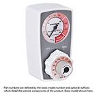 Suction Regulator, Preset, Vacuum, Continuous, 0-200mmHg, 2 Mode (Off/Reg), Bottom Tubing Nipple, Back Ohmeda