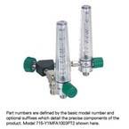 Wye Assembly, Air, Oxygen, 2 Chrome Flowmeters, 0-15 LPM, Ohmeda, Two Power Take-Offs
