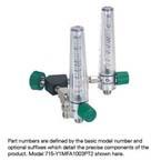 Wye Assembly, Air, 2 Chrome Flowmeters, 0-15 LPM, Puritan Bennett Adapter
