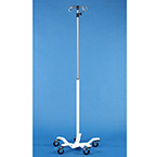 IV Stand, Pole, 5 Wheel, 4 Hooks, 99-in Extended, 68-in Compressed
