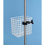 Utility Basket, 1-in Weave, Epoxy Finish, 8 L x 8 H x 6 W-in
