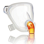 Face Mask, PerforMax EE, LG Adult, incl Headgear, Headgear Clips, Clear Elbow Hub, Entrainment Elbow